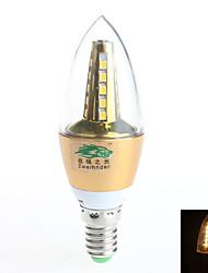 Luces LED en Vela Decorativa Zweihnder Rotatoria E14 7W 25 SMD 2835 600 lm Blanco Cálido AC 85-265 V 1 pieza