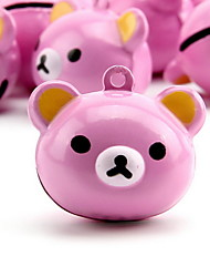 Pink Bear Cartoon Pure Copper Pet Pendant Bell(1 PCS 3cm)
