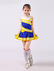 Cheerleader Costumes Children's Performance Polyester Color Block 2 Pieces Outfits