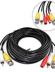 TYCOCAM 30M CCTV Security Surveillance Camera Video and Audio Powe Extension Cable Pre-made All-in-One BNC RCA Cable