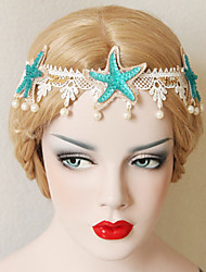 The Starfish Pearl Lace Headdress Decoration
