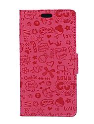For Huawei Case / P9 / P9 Lite / P8 / P8 Lite Wallet / Card Holder Case Full Body Case Cartoon Hard PU Leather HuaweiHuawei P9 / Huawei