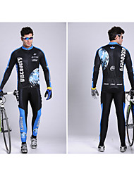 Calça com Camisa para Ciclismo Homens Manga Comprida MotoRespirável / Secagem Rápida / Permeável á Humidade / Tiras Refletoras / Bolso