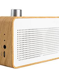 trozk moda de madeira portátil função do bluetooth mini alto-falante banco rádio / poder branco
