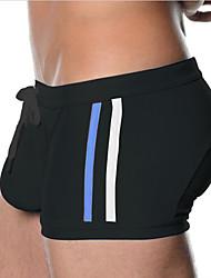 Men's Nylon / Polyester Solid Swim Shorts