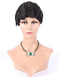 Machine Made Short Wig Human Hair None Lace Brazilian Hair Human Hair Wig Wavy Short Celebrity Short human hair wigs