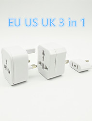 3IN1 Power Adapter Multi-function EU UK US Plug Switch Portable Suitable Foruse At Home and Travel