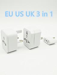 adaptateur secteur 3en1 multi-fonctions eu uk nous brancher commutateur portable adapté remplirparle à la maison et Voyage