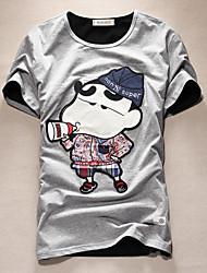 2016 new summer T-shirt male youth t-shirt printing cartoon crayon male half sleeve shirt tide