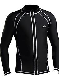 SBART Hombre Camisa de neopreno Dive Skins Mantiene abrigado Resistente a los UV Chinlon Traje de buceo Manga LargaProtección para