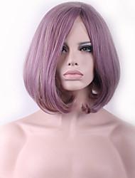 fashional peluca cosplay sintética del pelo de la explosión inclinada bobo púrpura caliente de la venta de taro.