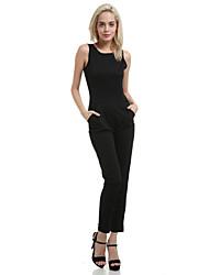 Women's Black Sexy Sleeveless Slim Jumpsuit