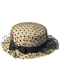 2016 Newest Korea Lei Mesh Yarn Straw Sun Hat