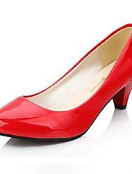 Calçados Femininos-Saltos-Saltos-Salto Sabrina-Vermelho / Branco-Courino-Social