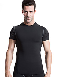 Running Compression Clothing / Tights Men's Short Sleeve Quick Dry / Compression / Lightweight Materials / Soft Polyester / ElastaneYoga