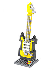 Loz Yellow Electric Guitar Loz Diamond Blocks Block Toys DIY Toys (160 Pcs)