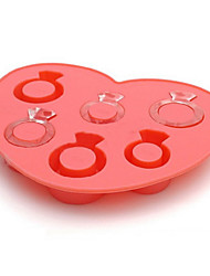 Ring Ice Mould Silicone Ice Cubes Tray Pudding Jelly Mold (Random Color)