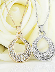 18k Gold/SIlver Full -Crystal Zircon Choker Pendant Necklace Jewelry for Lady Wedding Party Gift