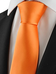 New Solid Pumpkin Orange Men Tie Suit Necktie Formal Wedding Holiday Gift KT1021