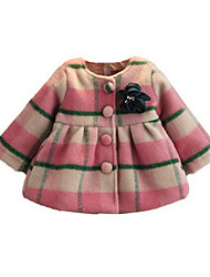 Girl's Pink Jacket & Coat Cotton Spring / Fall