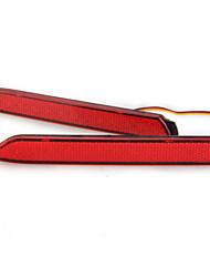 2x freio de parada cauda pára-choques traseiro 21 leds luz vermelha bulbo de lâmpada reflector para camry