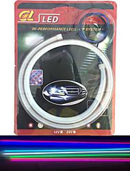 2ks emitující trubka vedla měkký lampy auto obočí zvýraznit LED lampa světla článek 60 cm
