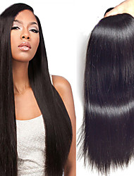 1Bundles Brazilian Virgin Hair Straight Hair Color 1B# Unprocessed Raw Virgin Human Hair Weaves