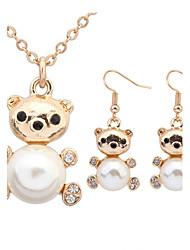 Collier / Boucles d'Oreille(Alliage / Strass / Imitation Perle)Mignon / Travail / DécontractépourFemme