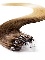 neitsi® 20inch micro anneau boucles extensions de cheveux humains sonne t8-22 de cheveux humains