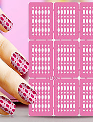 1pcs  Nail Art Hollow Stickers New Design Beautiful Geomestric Shape  Nail Art Beauty  L151-160