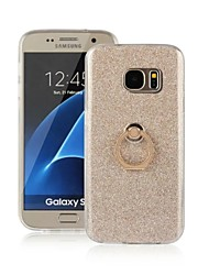 For Samsung Galaxy S7 Edge with Stand / Ring Holder Case Back Cover Case Glitter Shine TPU Samsung S7 edge / S7 / S6 edge / S6 / S5 / S3