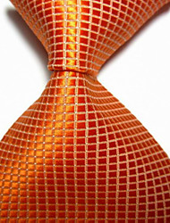 Cravate à cravate tissée jacquard tissée à l'orange