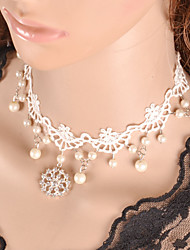 Necklace Choker Necklaces / Torque / Gothic Jewelry Jewelry Halloween / Wedding / Party / Daily / Casual Lace White 1pc Gift
