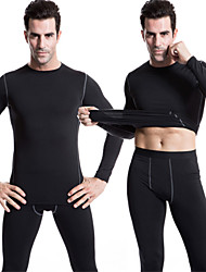 Running Compression Clothing Men's Long Sleeve Quick Dry / Lightweight Materials / Soft / Compression Polyester / ElastaneYoga / Fitness