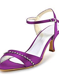 Women's Wedding Shoes Heels / Peep Toe Sandals Wedding / Party & Evening / Dress Purple / Red / Royal Blue
