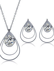 2016 Fashion Luxury Lovely teardrop-shaped Zircon Jewelry Set For Women