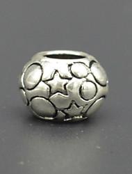 diy bracelet de perles accessoires collier de placage d'argent d'épaisseur + maculage perles macroporeux star de la mode de hac0051