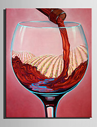 Mini Size E-HOME Oil painting Modern Pour A Glass Of Red Wine Pure Hand Draw Frameless Decorative Painting