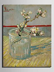 mini-peinture à l'huile de taille e-maison moderne fleur dans une bouteille de verre main pure dessiner la peinture décorative frameless