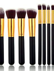 8PCS Professional Makeup Cosmetic Face&Eyeshadow Brushes Set with Bag Silver/Gold Powder Blush Eyeshadow Concealer Brush