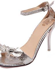 Women's Shoes Stiletto Heel Open Toe Sandals Dress Black / Silver / Gold