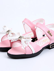 Girls' Shoes Outdoor / Casual Peep Toe / Gladiator Leatherette Sandals / Flats Pink / Red / White