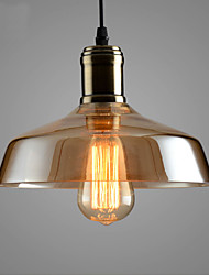 Max 60W Retro Lighting Bar Restaurant Living Room Bedroom Study Room/Office Clothing Store Glass Pendant Light