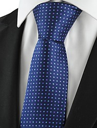 New Polka Dot Navy Purple Classic Men Tie Formal Suit Necktie Holiday GiftKT1036