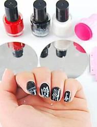 kit nail art stamping (2pcs imagem aleatória placa modelo, stamper 1pc&1pc raspador, 3pcs polonês especial das unhas)