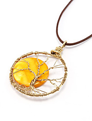 Yellow sun handmade necklace