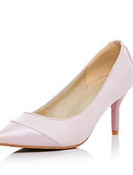 женская обувь ватки лето / осень пятки / пальца ноги пятки заостренный офис&карьера / случайный конус пятки раскол сустава черный /