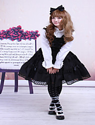 Cotton Black Sleeveless Gothic Lolita Dress JSK