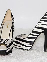Women's Shoes Silk Stiletto Heel Heels / Peep Toe / Platform / Sandals Wedding / Office & Career / Party & Evening