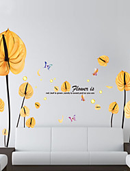 Wall Stickers Wall Decals Style Love A Flower PVC Wall Stickers